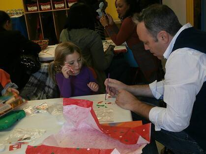 Parent and Child Enjoying Preschool Activities