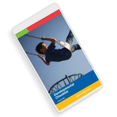 Developmental checklist mobile simple