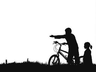 Kids-Pointing-Silhouette-Bike-Black-And-White-315379.jpg