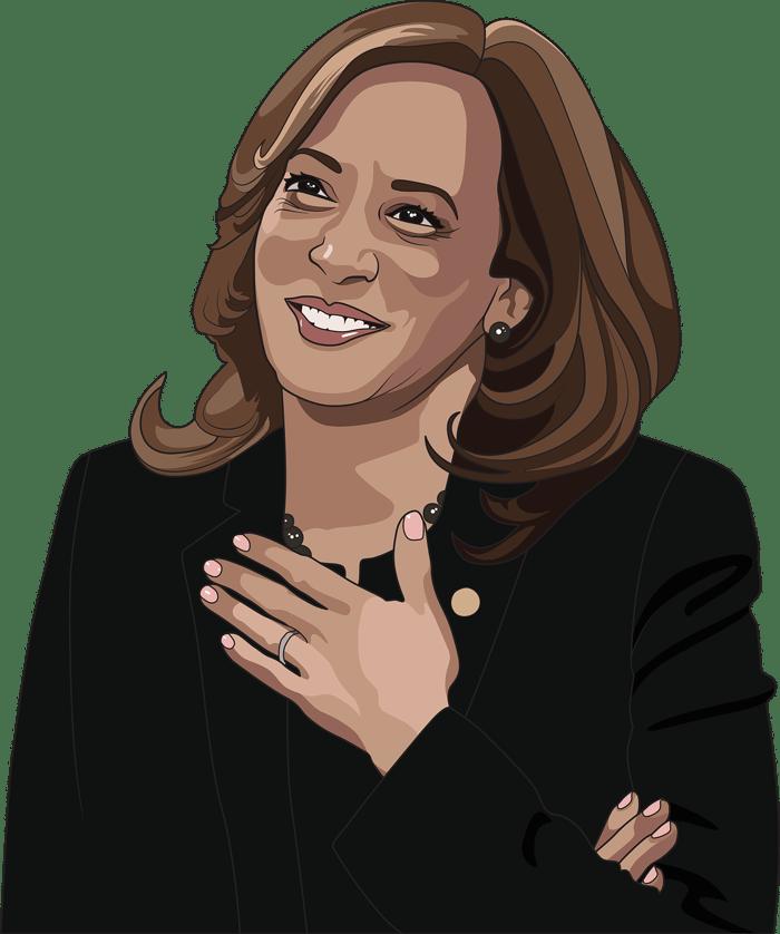 illustration of Vice President Kamala Harris